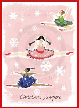 Christmas Jumpers Ballet Card
